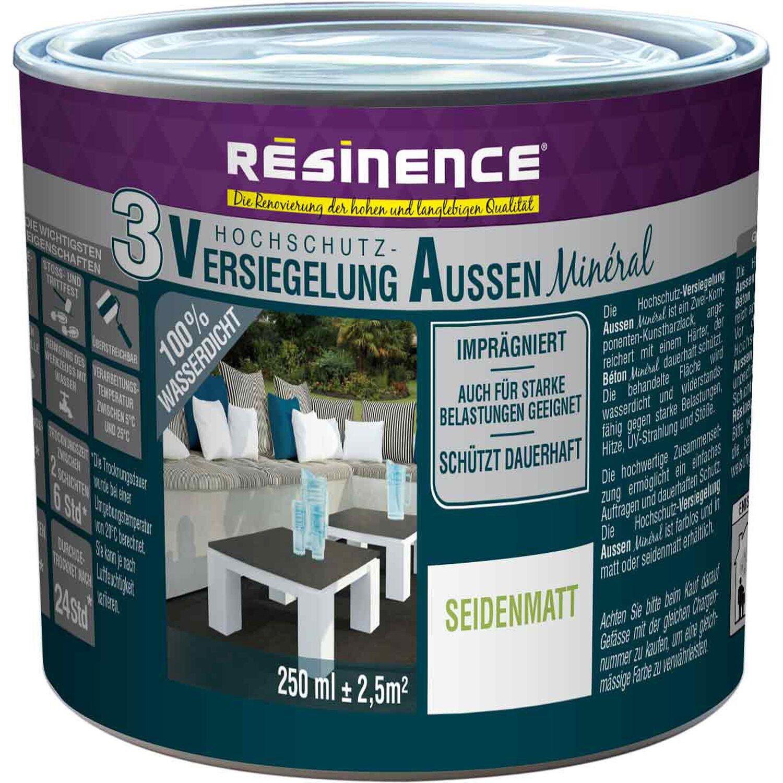 resinence versiegelung mineral 2k au en seidenmatt 250 ml produktsuche und. Black Bedroom Furniture Sets. Home Design Ideas