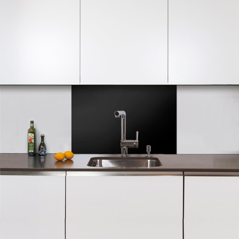 Spritzschutz Kitchenglas Schwarz 60 cm x 40 cm