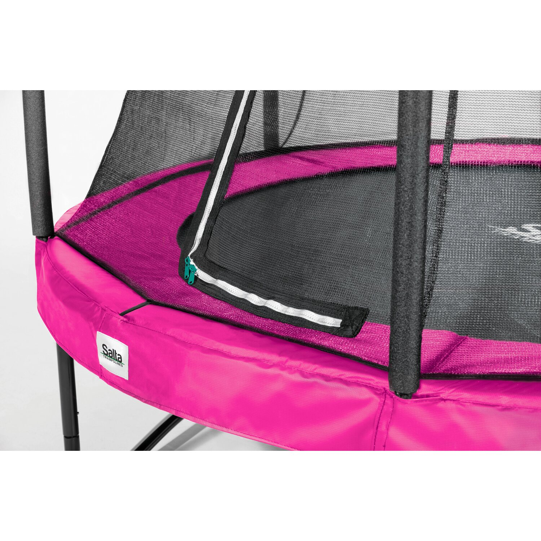 Trampolin EXIT Silhouette mit Sicherheitsnetz Ø427cm pink Spielzeug für draußen