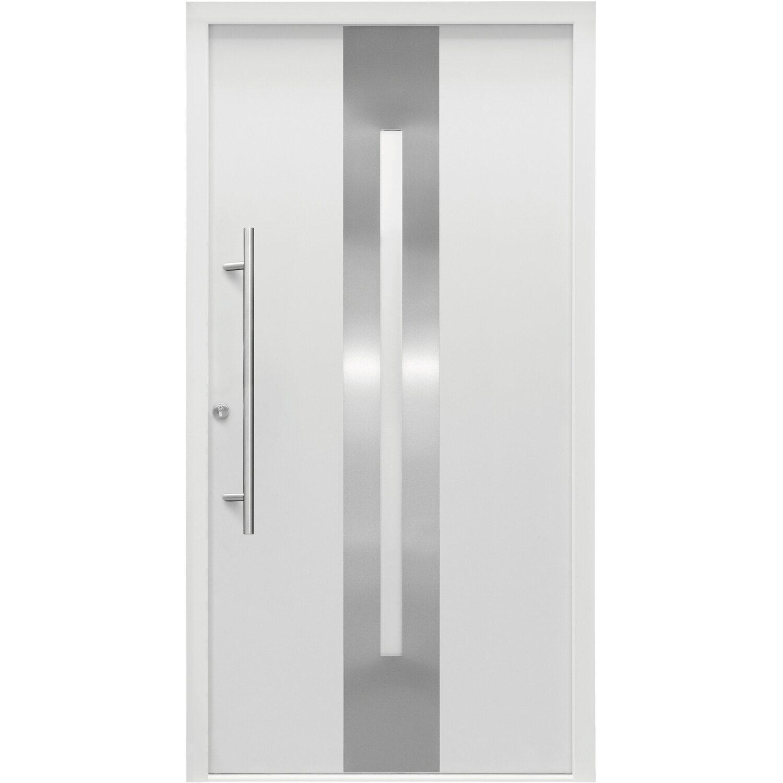 Splendoor Haustür ThermoSpace Dublin 110 cm x 210 cm Weiß Anschlag Links
