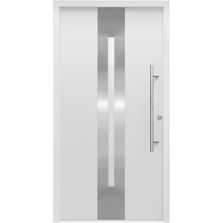 Splendoor Haustür ThermoSpace Dublin 110 cm x 210 cm Weiß Anschlag Rechts
