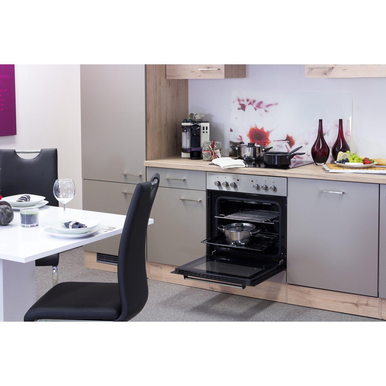 Flex-Well Küchenzeile Arizona 220 cm Quarz Cubanit-San Remo Eiche ...