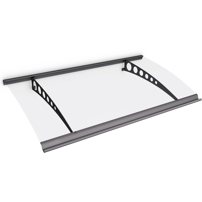 Pultbogenvordach Style Plus 1600 Circle Stahl Anthrazit/Klar 17 x 160 x 90 cm   Baumarkt > Modernisieren und Baün > Vordächer   Schulte