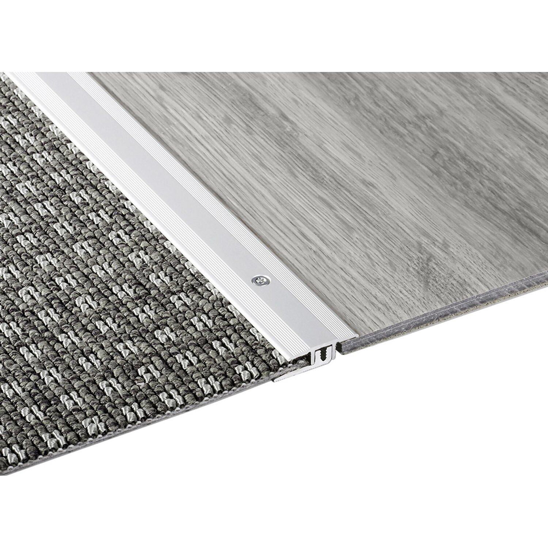 Übergangsprofil combi-vinyl 25 mm x 9,5 mm x 2700 mm silber eloxiert
