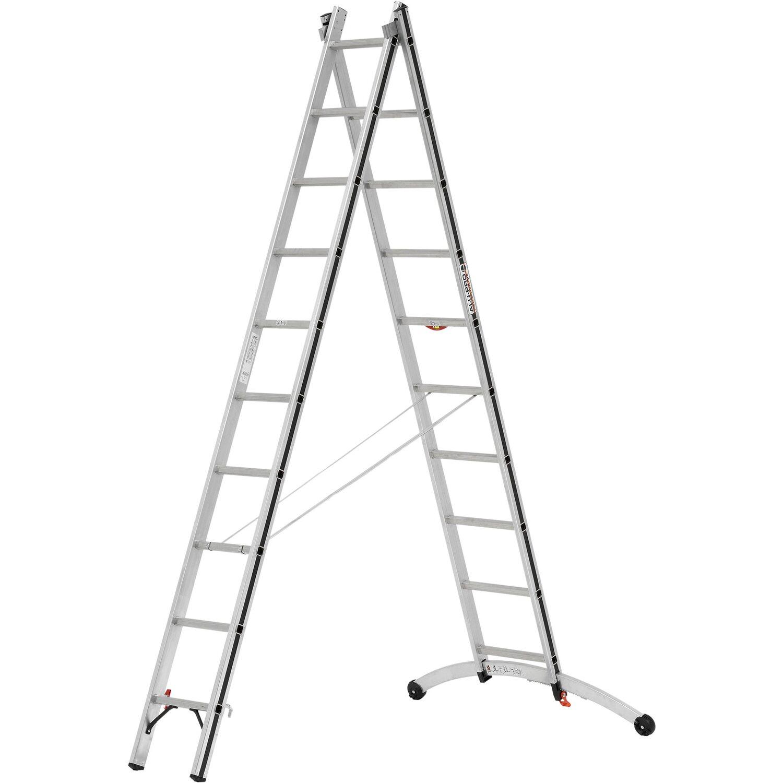 Hymer Allzweck Leiter 2 X 10 Sprossen Mit Smart Base Arbeitshohe 5 04 M