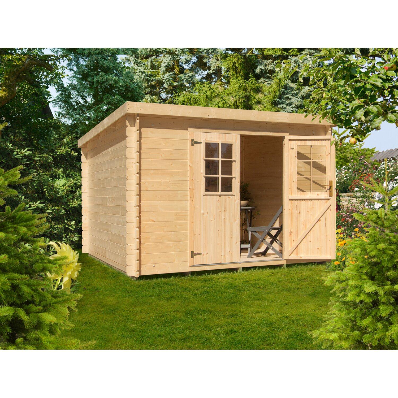 Holz Gartenhaus Kh 19 021 Bxt 260x220 Cm Inkl Aufbauservice Kaufen Bei Obi