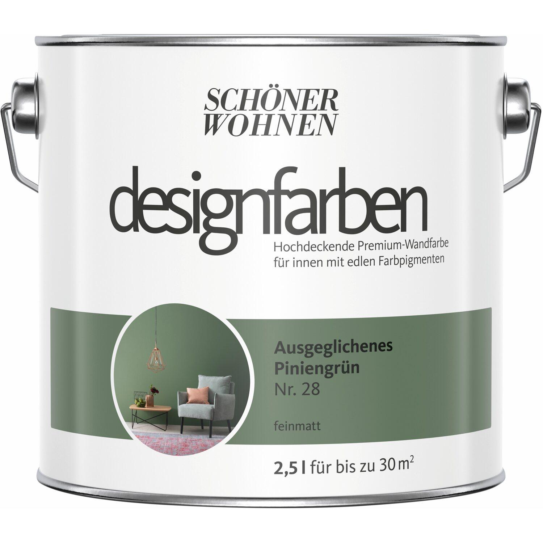 Schöner Wohnen Designfarben Ausgeglichenes Piniengrün matt 2,5 l