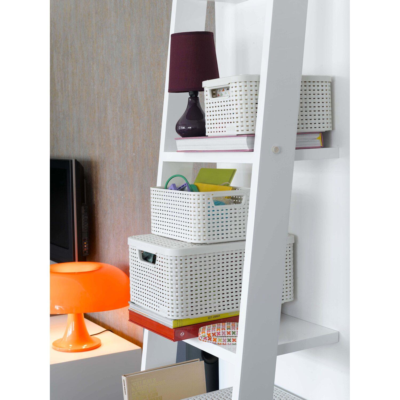 Best Freizeitmöbel Aufbewahrungsboxen Curver Style 3 Er Set Creme M Mit Deckel
