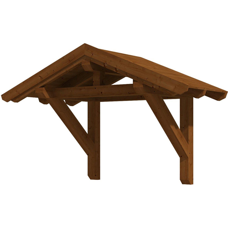 Skan Holz Haustür-Vordach Siegen 1 Nussbaum lasiert 247 cm x 116 cm | Baumarkt > Modernisieren und Baün > Vordächer | Skan Holz