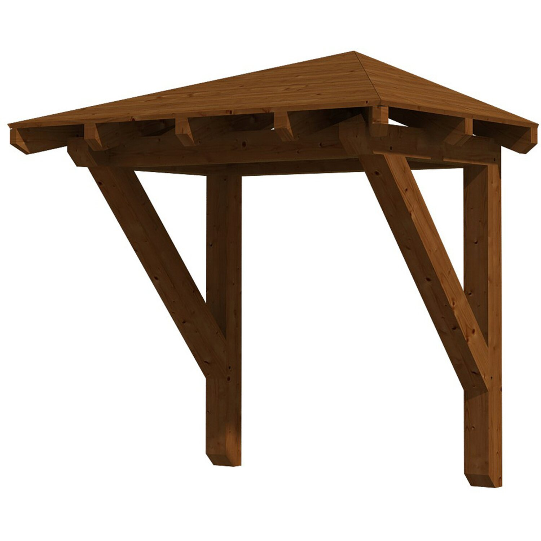 Skan Holz Haustür-Vordach Wesel 1 Nussbaum lasiert 188 cm x 126 cm   Baumarkt > Modernisieren und Baün > Vordächer   Skan Holz