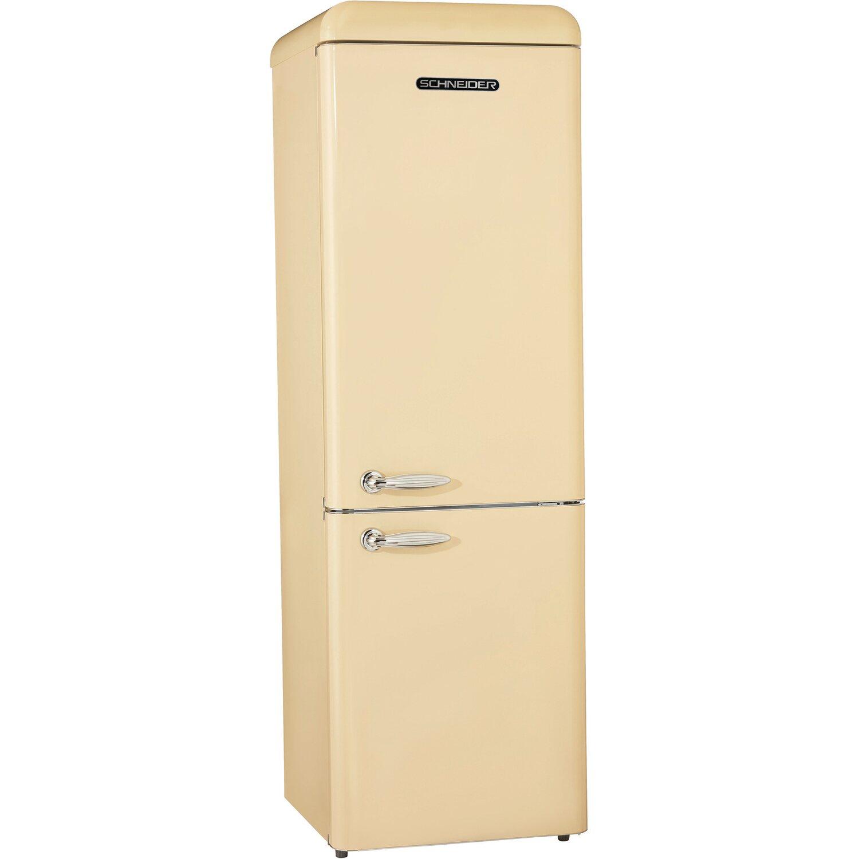 Schneider Kühl-Gefrierkombination SCB 250V2 CR Creme glänzend EEK A++ | Küche und Esszimmer > Küchenelektrogeräte > Kühl-Gefrierkombis | Schneider