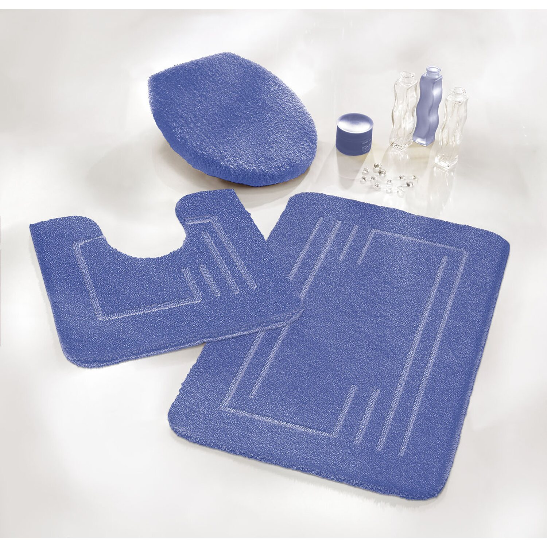 obi badteppich vicky set 3 teilig blau kaufen bei obi. Black Bedroom Furniture Sets. Home Design Ideas
