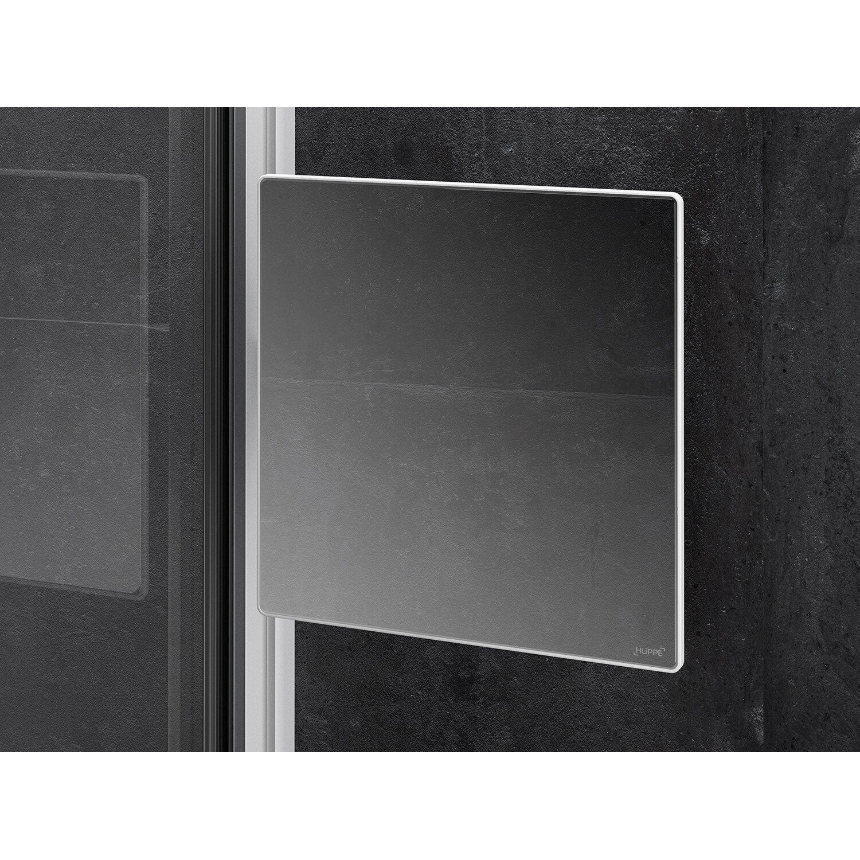 Hüppe Spiegel Select+ für die Dusche Silber Matt