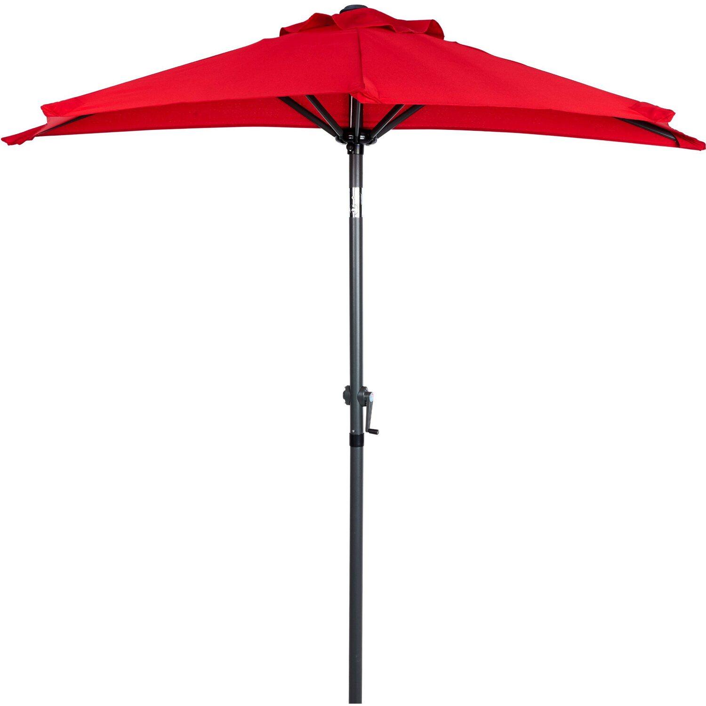 Siesta Sonnenschirm für Balkon halbrund Rot