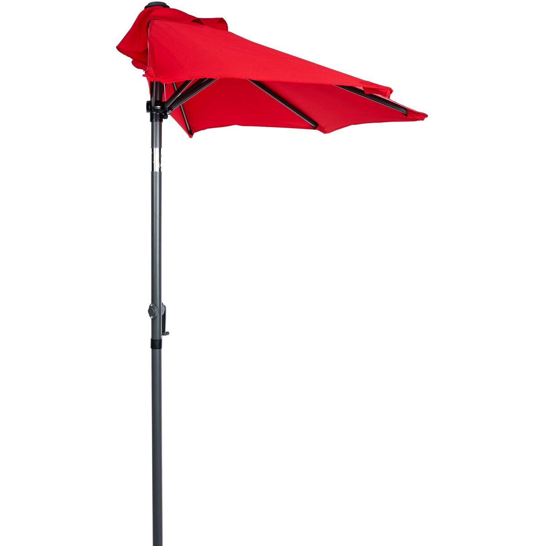 Berühmt Siesta Sonnenschirm für Balkon halbrund Rot kaufen bei OBI SM57