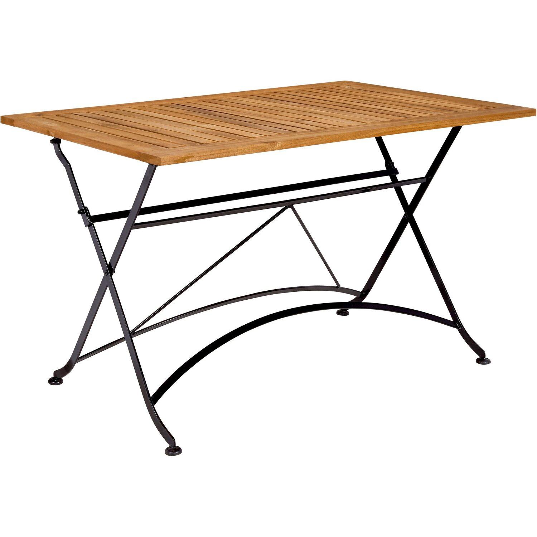 Parklife Gartentisch Klappbar 130 X 80 X 75 Cm Holz Und Metall