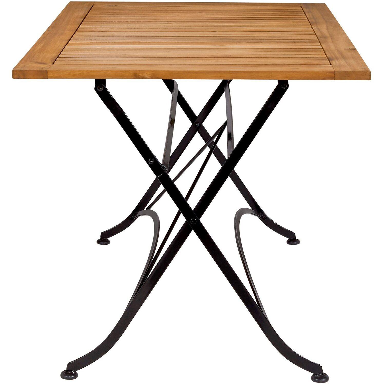 Fabulous Parklife Gartentisch klappbar 130 x 80 x 75 cm Holz und Metall OV33
