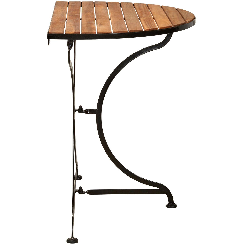 Parklife Balkon Klapptisch Halbrund 85 X 55 X 75 Cm Holz Und