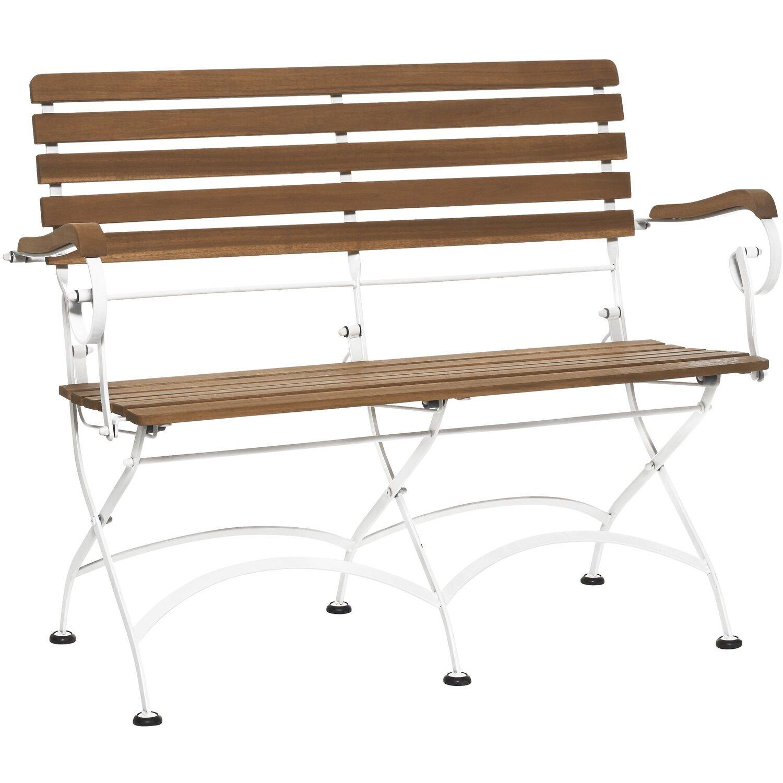 Parklife Gartenbank Klappbar 111 X 59 X 90 Cm Holz Und Metall