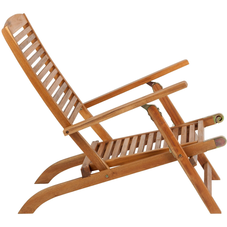 Weekender Liegestuhl mit Fußteil Holz kaufen bei OBI