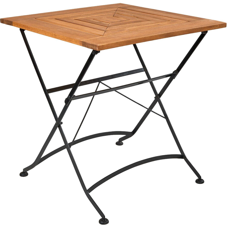 Gut bekannt Garden State Gartentisch klappbar 70 x 70 cm Holz Braun kaufen bei OBI XD36