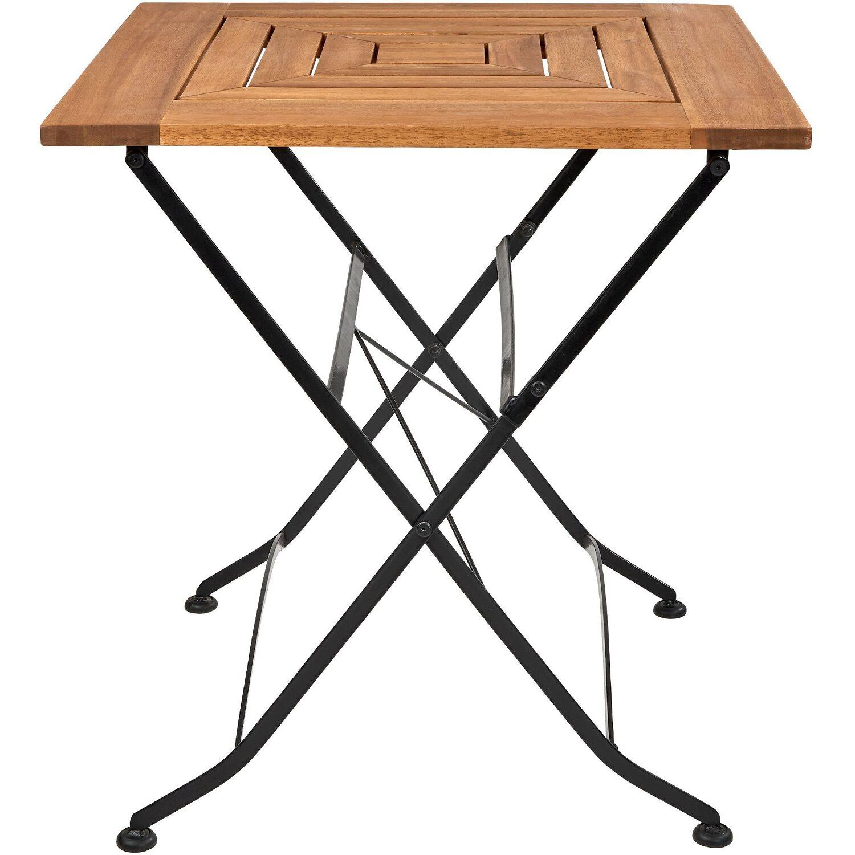 Garden State Gartentisch klappbar 32 x 32 cm Holz Braun kaufen bei OBI