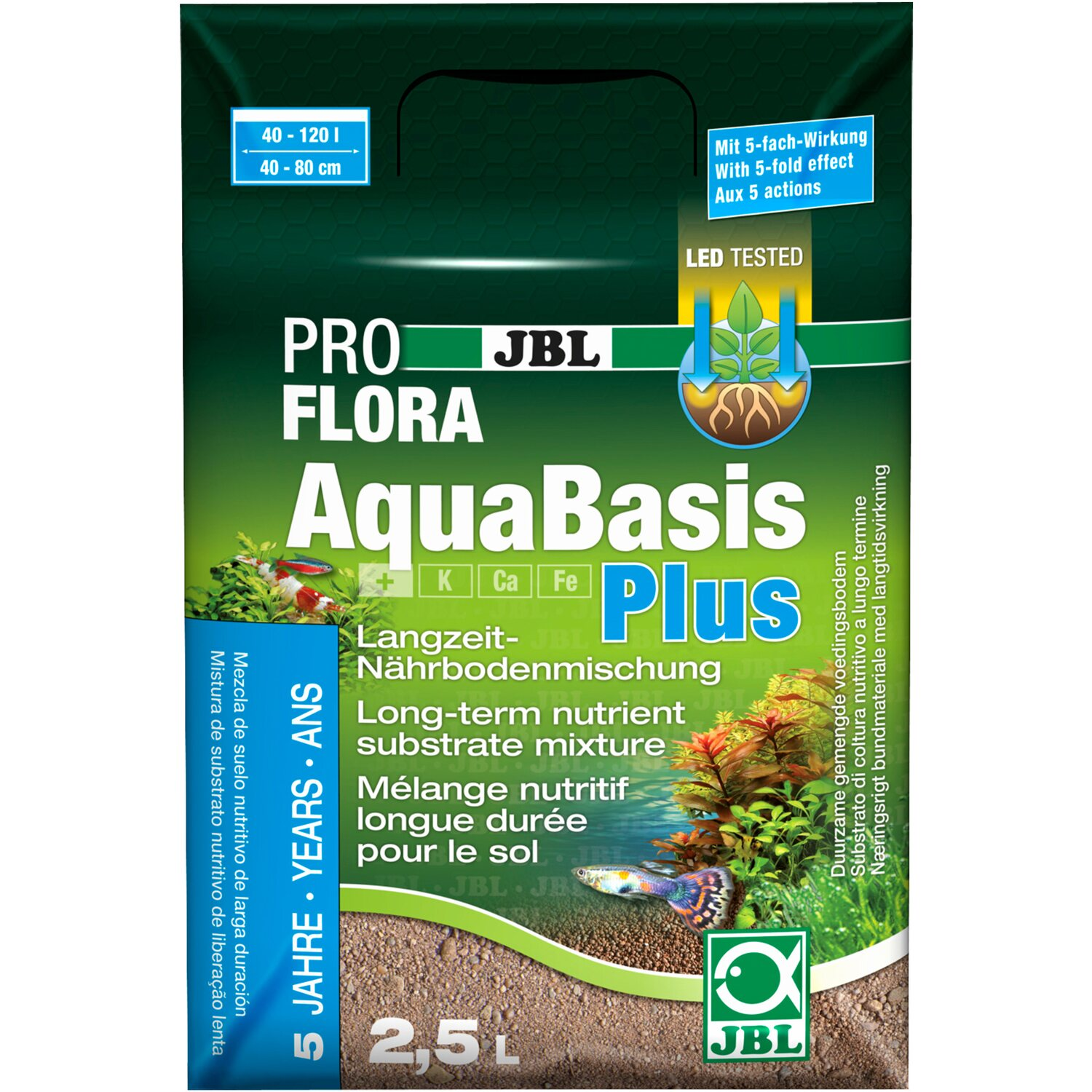 JBL Aquarium Bodenhilfsstoff AquaBasis plus 2,5 l