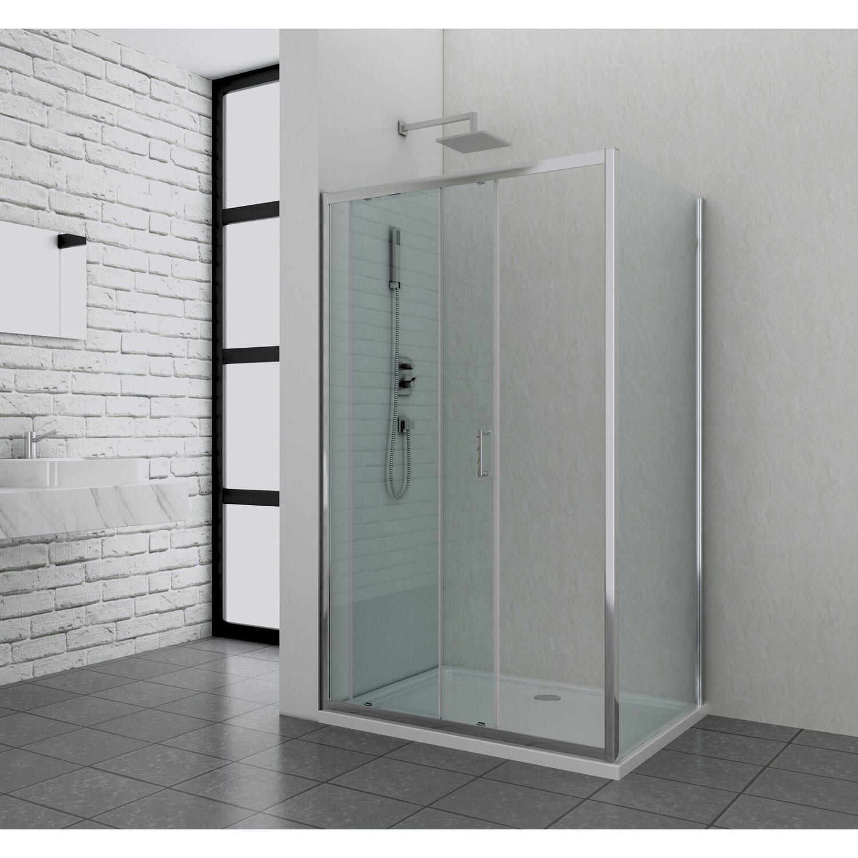 Schiebetür 100 Cm : sanotechnik schiebet r elite 100 cm x 195 cm klarglas ~ Watch28wear.com Haus und Dekorationen