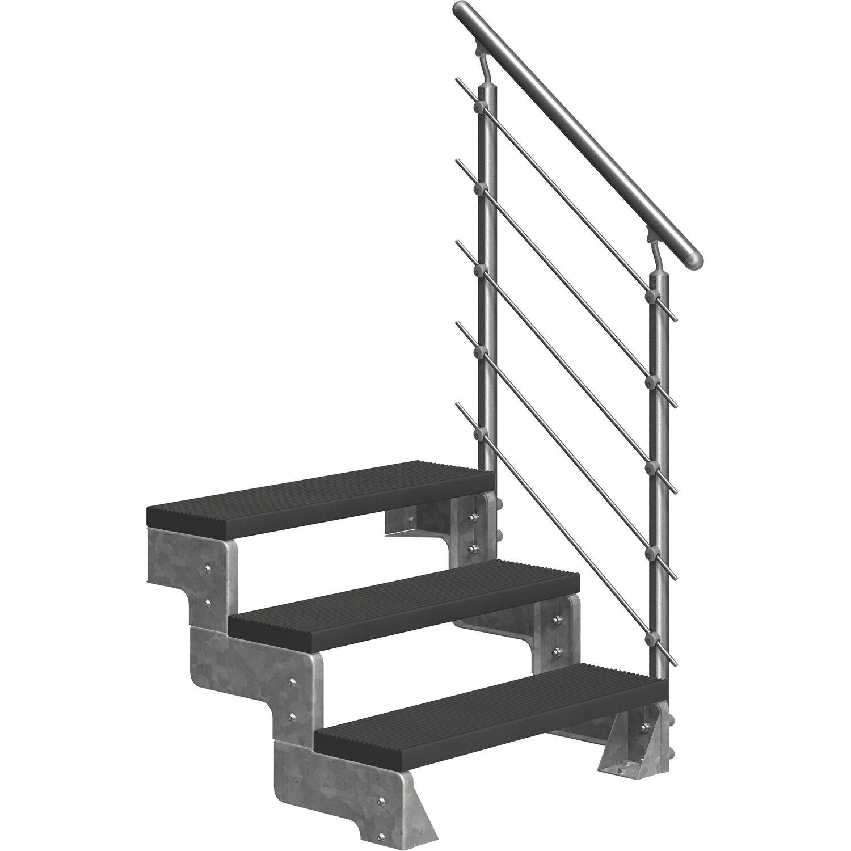 1m Edelstahl Geländer Gartentreppe Stufe Balkongeländer