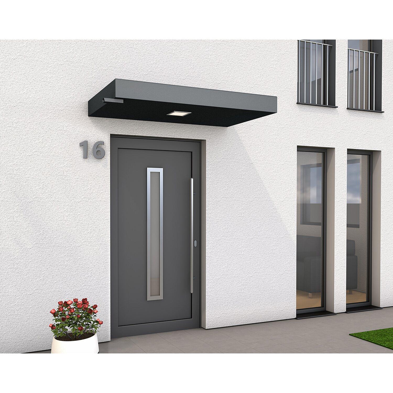 Rechteckvordach BS plus 160 cm x 90 cm Anthrazit mit Wasserspeier Links   Baumarkt > Modernisieren und Baün > Vordächer   Gutta