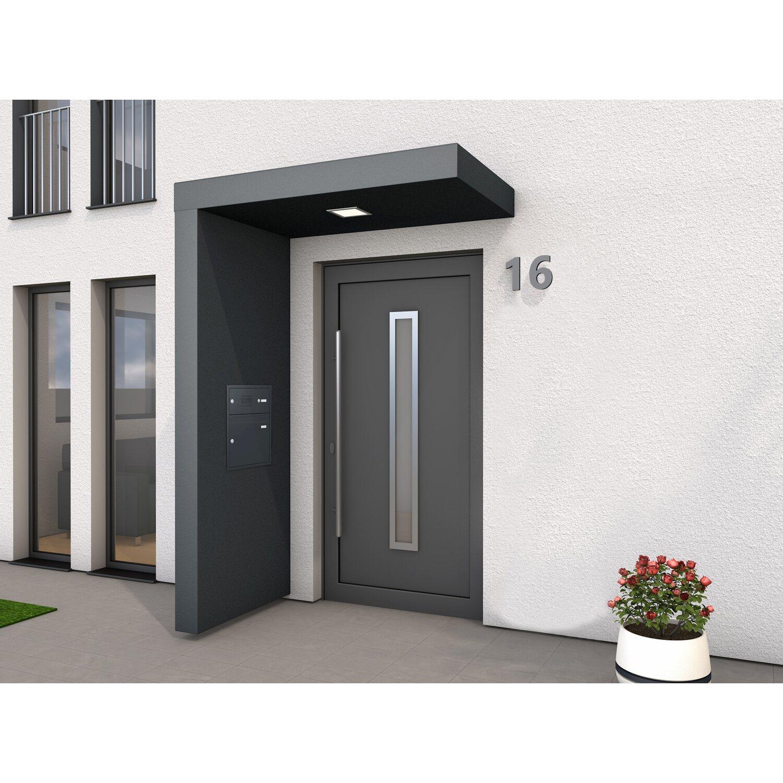 Rechteckvordach BS plus 160 cm x 90 cm mit Seitenteil Links + BK + Klingel   Baumarkt > Modernisieren und Baün > Vordächer   Gutta