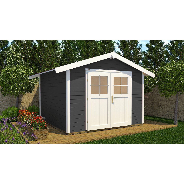Weka Holz Gartenhaus 122 Gr 2 Anthrazit Bxt 240 Cm X 235 Cm Kaufen Bei Obi