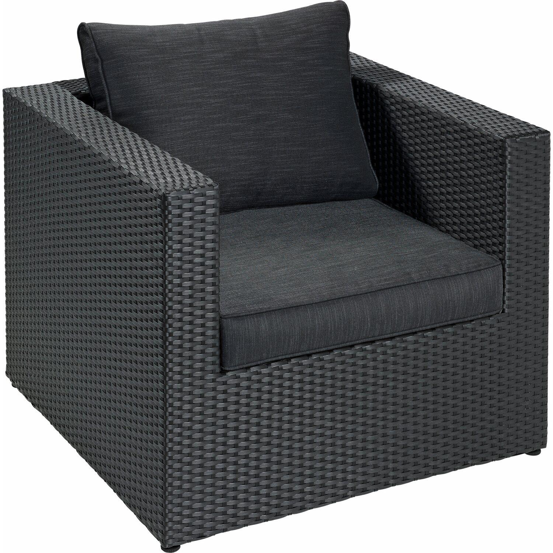 Lounge sessel schwarz  OBI Lounge-Sessel Cartago mit Armlehnen Schwarz kaufen bei OBI