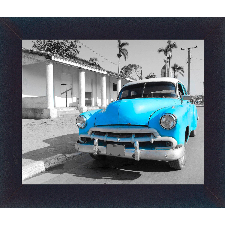 bild mit rahmen blue car 32 cm x 38 cm kaufen bei obi. Black Bedroom Furniture Sets. Home Design Ideas