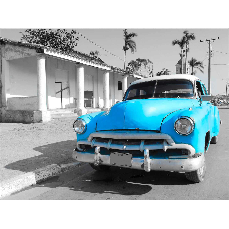 Leinwandbild Blue Car 57 cm x 77 cm Preisvergleich