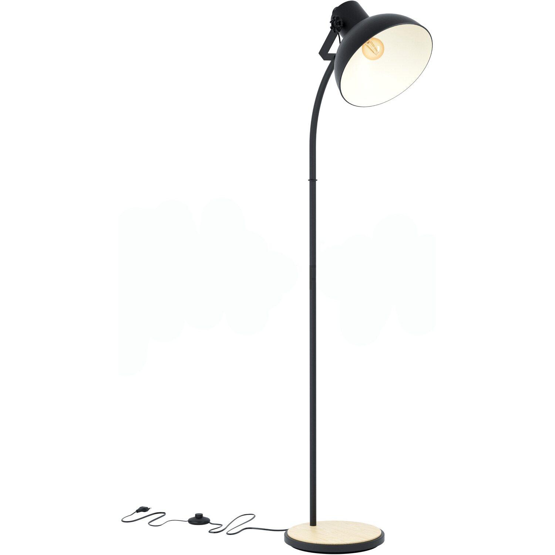 Eglo Stehlampe Lubenham Schwarz Braun Eek A E Kaufen Bei Obi