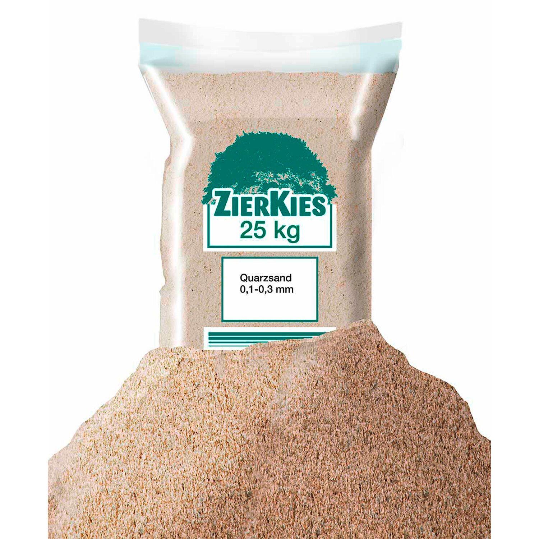 Sonstige Quarzsand 0 mm - 0,3 mm 25 kg