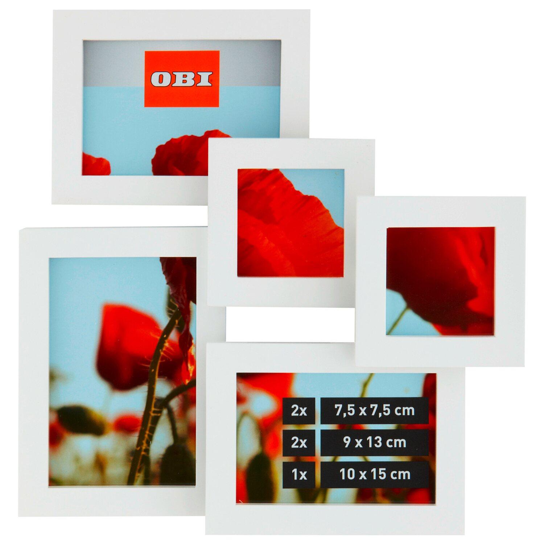 OBI Multi-Bilderrahmen für 5 Bilder Weiß kaufen bei OBI