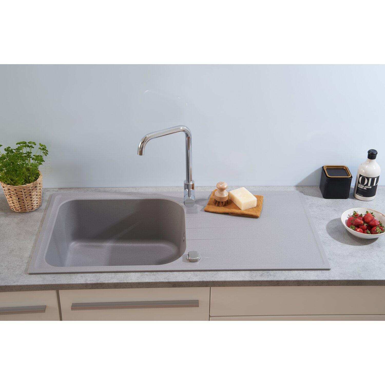 Respekta by Schock Granit-Einbauspüle Orlando 100 cm x 50 cm Betongrau   Küche und Esszimmer > Spülen > Einbauspülen   Respekta
