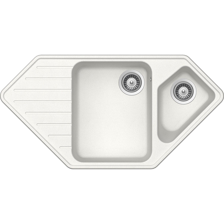 Respekta by Schock Granit-Einbauspüle Memphis 98 cm x 50 cm Weiß   Küche und Esszimmer > Spülen > Einbauspülen   Weiß   Respekta