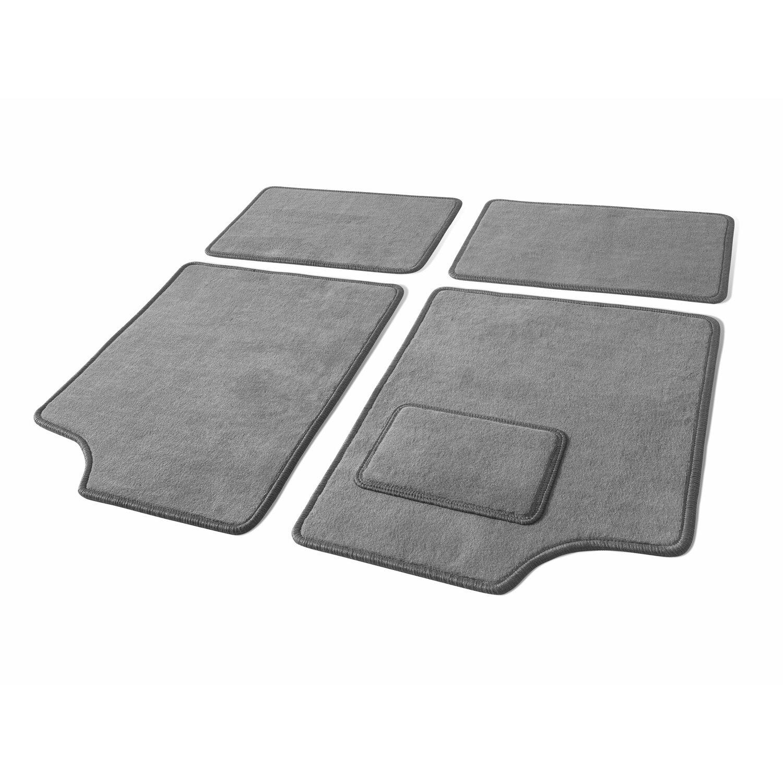 OBI Velours-Fußmatten-Set 4-teilig Größe B | Heimtextilien > Fussmatten | Grau | Textil