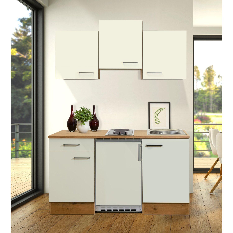Flex-Well Exclusiv Singleküche/Miniküche Vintea 150 cm Magnolia-Lancelot Oak   Küche und Esszimmer > Küchen > Miniküchen   Flex-Well Exclusiv