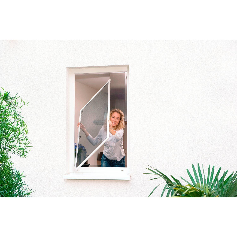 tesa Fliegengitter Alu Rahmen Comfort Fenster Weiß 120 cm x 100 cm ...