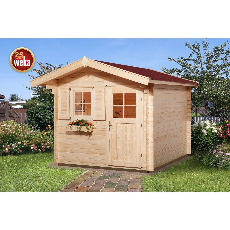 Weka Holz Gartenhaus Premium28 Ft Natur Bxt 250 Cm X 310 Cm Davon 60 Cm Vordach Kaufen Bei Obi