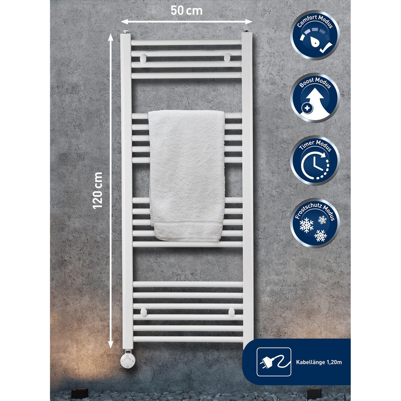Elektrischer Badheizkörper 600 W mit programmierbaren Thermostat