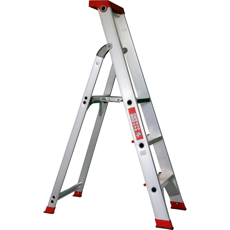 Alu-Profi-Stehleiter 3-stufig Arbeitshöhe 2,75 Meter | Baumarkt > Leitern und Treppen > Stehleiter