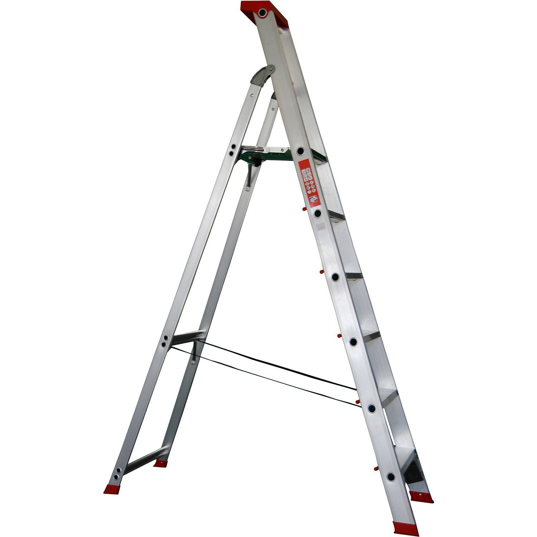 Alu-Profi-Stehleiter 6-stufig Arbeitshöhe 3,5 Meter | Baumarkt > Leitern und Treppen > Stehleiter