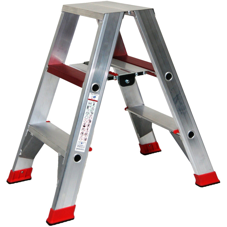 Alu-Profi-Doppelleiter 2 x 3 Stufen Arbeitshöhe 2,75 Meter günstig online kaufen