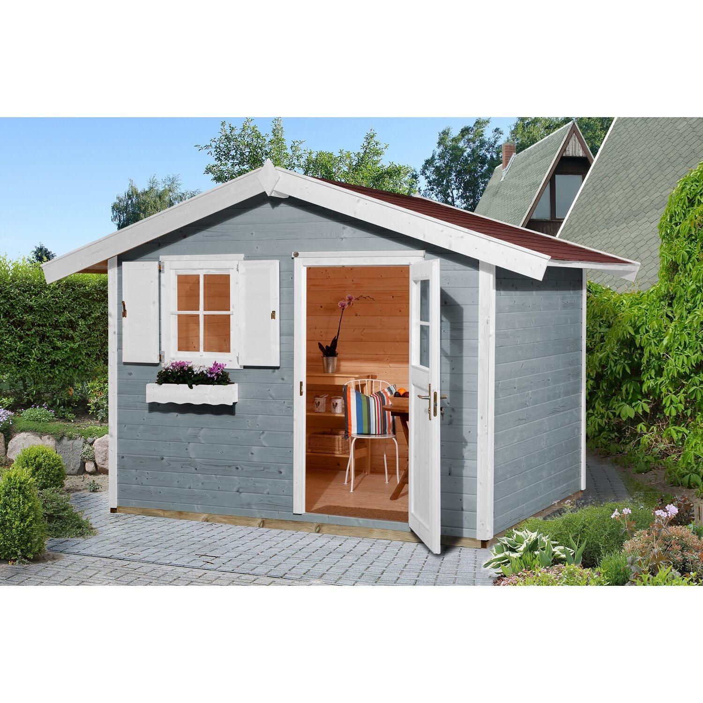 Weka Holz-Gartenhaus/Gerätehaus 123 Gr. 3 Grau BxT: 300 cm x 205 cm