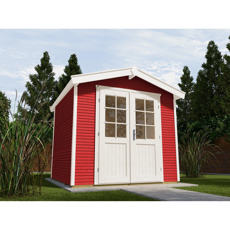 Weka Holz-Gartenhaus/Gerätehaus 218 WekaLine Gr. 2 Schwedenrot BxT: 301 cm x 205 cm